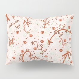 Peppermint Candy Paw Prints Pillow Sham