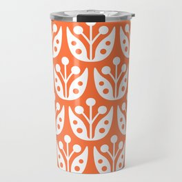 Mid Century Flower Pattern 4 Travel Mug