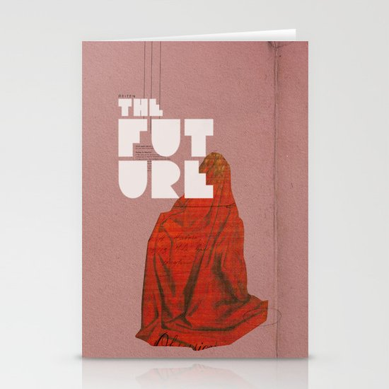 The future a time to reminisce. (mixed media) Stationery Cards