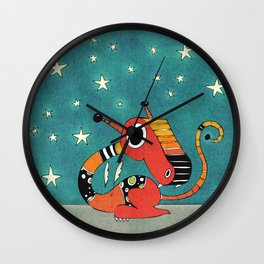 Red and Orange Dragonie Wall Clock