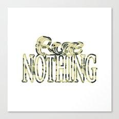 Rue Nothing Camo Logo Canvas Print