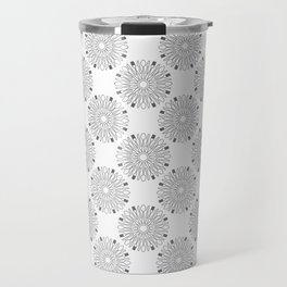 Kitchen cutlery outlined circles Travel Mug