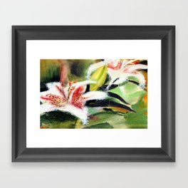 Rectory Series: Lilies Framed Art Print