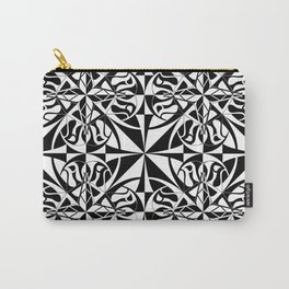 Think Tiled - Black White Carry-All Pouch