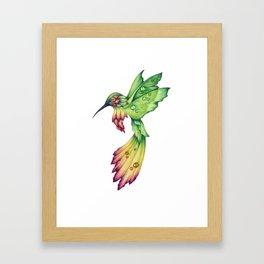 Flowerbird Framed Art Print