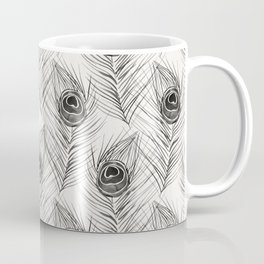Peacock Feather – Black Palette Coffee Mug