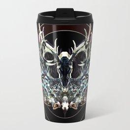 Deer and Crow Skulls Double Image Reverse Travel Mug