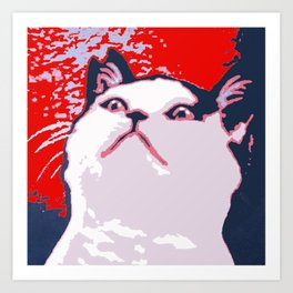 Obey the Cat Art Print