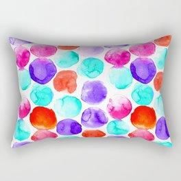 Watercolour Spots Rectangular Pillow