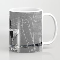 spaceman Mugs featuring Spaceman by Ed Pires