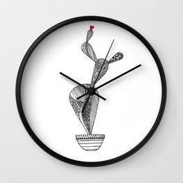 Cactus pattern love Wall Clock