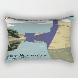 Vintage poster - Fort Marion Rectangular Pillow