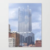 pittsburgh Canvas Prints featuring Pittsburgh by Trueheart Photography by Melissa