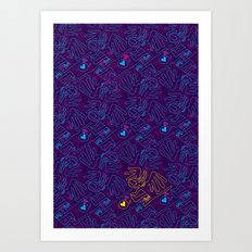 Fly Birita - poster pattern Art Print