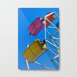 Ferris_Wheel - 3, Northern Michigan Metal Print