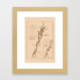 1770s Maps: Lakes Champlain and George (adapted) Framed Art Print