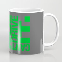 Yes it's fast No you can't drive it v4 HQvector Coffee Mug