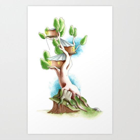 CabanArbre-Souche Art Print