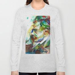 FRIEDRICH NIETZSCHE - watercolor portrait.3 Long Sleeve T-shirt