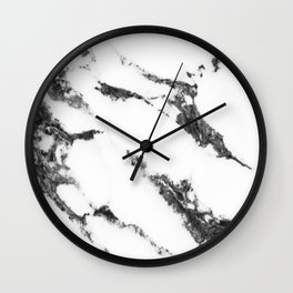 white marble no. 2 Wall Clock