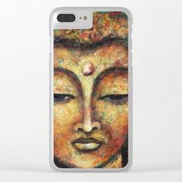 Buddha in Meditation Clear iPhone Case