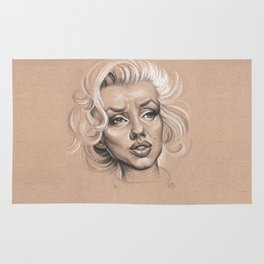 """Marilyn Monroe """"Whats Love without Tragedy"""" Rug"""