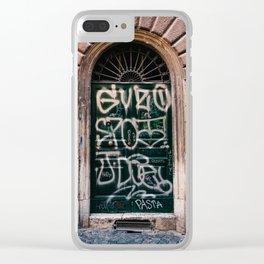 Roman Door II Clear iPhone Case