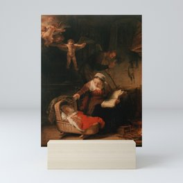 Holy Family with Angels Mini Art Print
