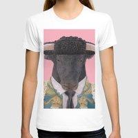 spanish T-shirts featuring Spanish Bull by Rachel Waterman
