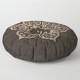 Aged Stone Lotus Flower Yoga Om Floor Pillow
