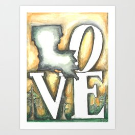 Love Louisiana Art Print