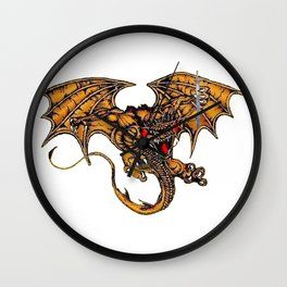 The Dragon and the Sword Wall Clock