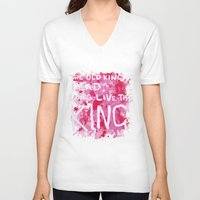 """coldplay V-neck T-shirts featuring """"Long Live The King""""-Coldplay by Fabfari"""