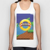 video game Tank Tops featuring Retro Platform Video game poster  by Nick's Emporium Gallery