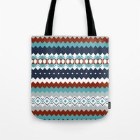 navajo Tote Bags featuring Navajo Pattern by Sean O'Connor