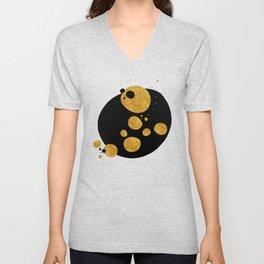 """""""Golden dots & black background"""" Unisex V-Neck"""
