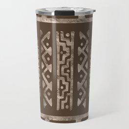 Bold Folk pattern pastel gold n.9 Travel Mug