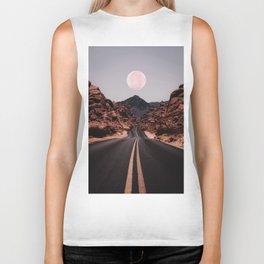 Road Red Moon Biker Tank