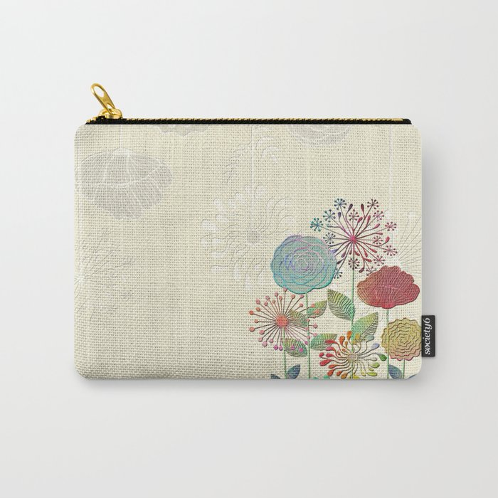 Flower Tales Carry-All Pouch