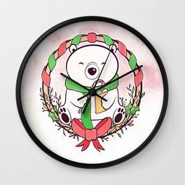 POLAR BEAR READS Wall Clock