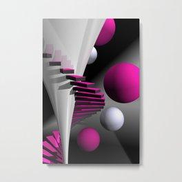 go pink -12- Metal Print