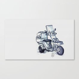 Honda delivery scooter japan Canvas Print