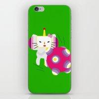 katamari iPhone & iPod Skins featuring Katamari Kitty by Martine Verfaillie