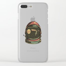 astronaut viewed Clear iPhone Case