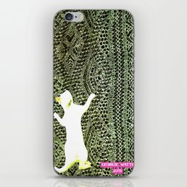 Climbing the Net handcut collage iPhone Skin