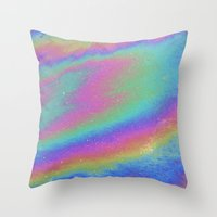 holographic Throw Pillows featuring Holographic by Nestor2