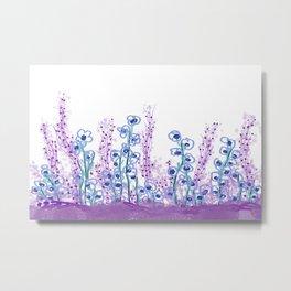 Astract Water Flowers Metal Print