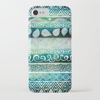 david iPhone & iPod Cases featuring Dreamy Tribal Part VIII by Pom Graphic Design