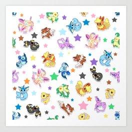 Cuties In The Stars Art Print