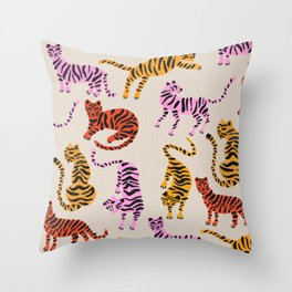 Tiger Collection – Pink & Yellow Palette Throw Pillow